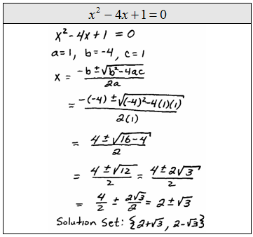 quadratic formula examples - photo #8