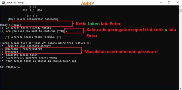 Cara masuk ke OSIF menggunakan Python.