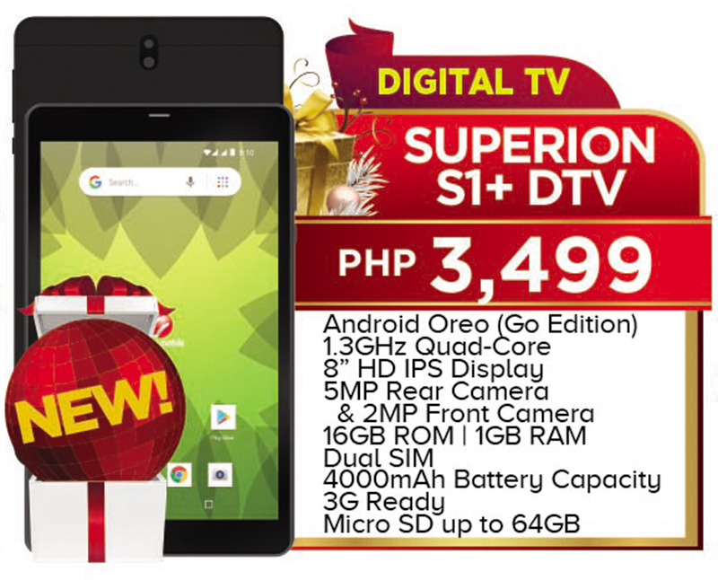 Cherry Mobile releases Superion S1+ DTV, Flare Tab, and Flare Tab Pro budget tablets!