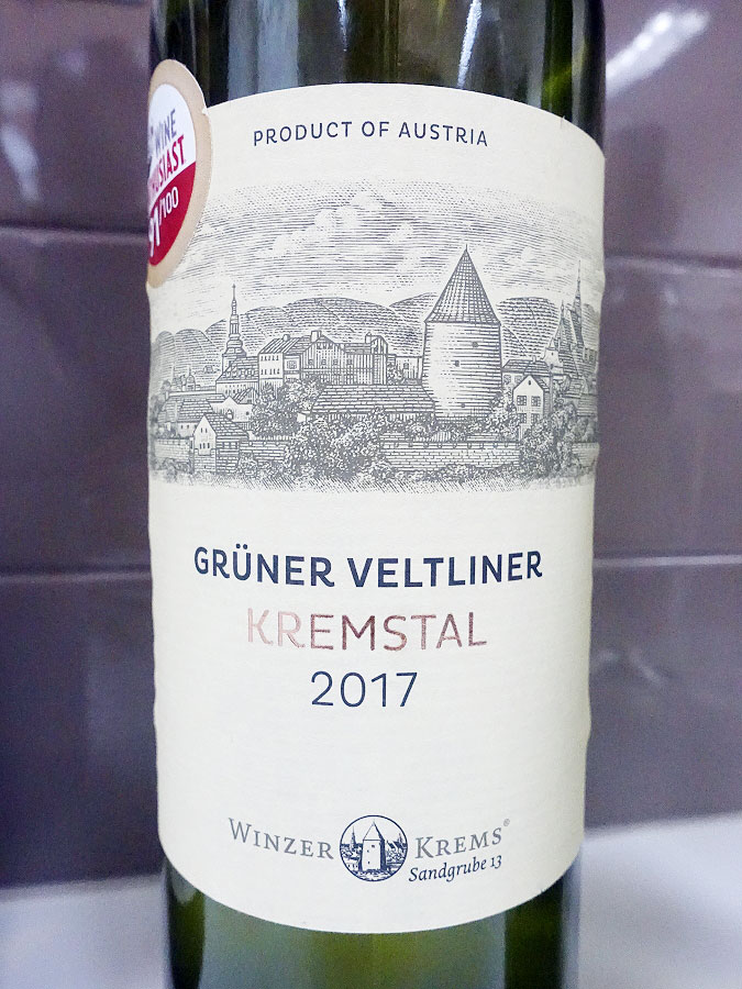 Winzer Krems Grüner Veltliner 2017 (88 pts)