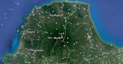Gunung Muria Google Earth