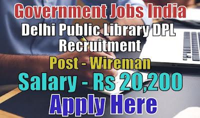 Delhi Public Library DPL Recruitment 2018