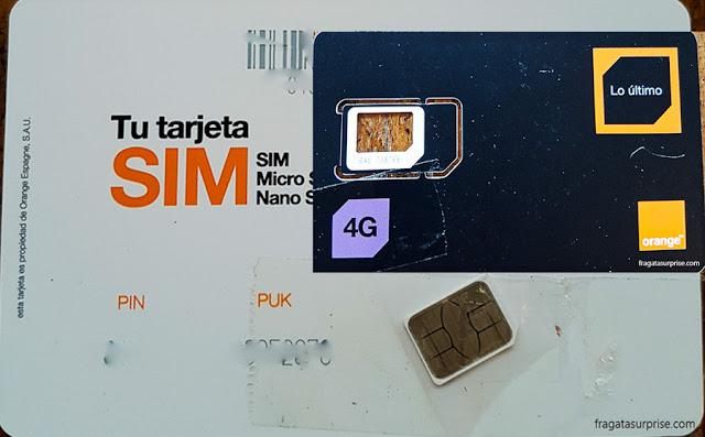 Chip de internet em Barcelona