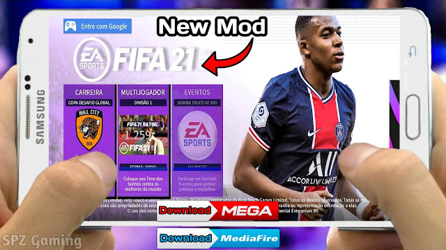 FIFA 21 MOD DLS 21 Android Offline [300 MB] Apk+Obb New Kits & Transfers Best Graphics