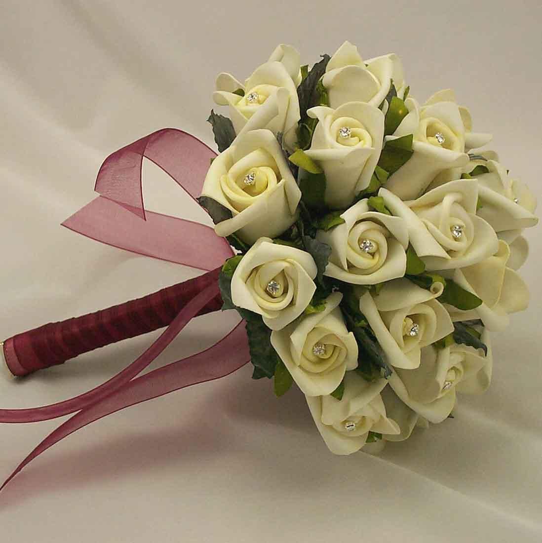 Artificial wedding flowers for Bouquet of flowers for weddings