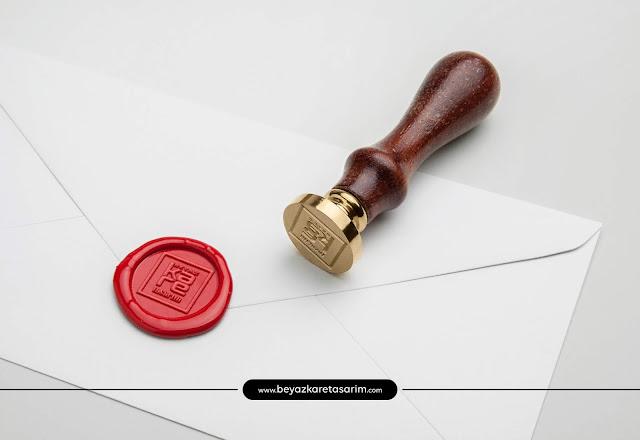 3D logo tasarımı mühür zarf