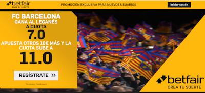 betfair supercuota liga Barcelona gana Leganes 16 junio 2020