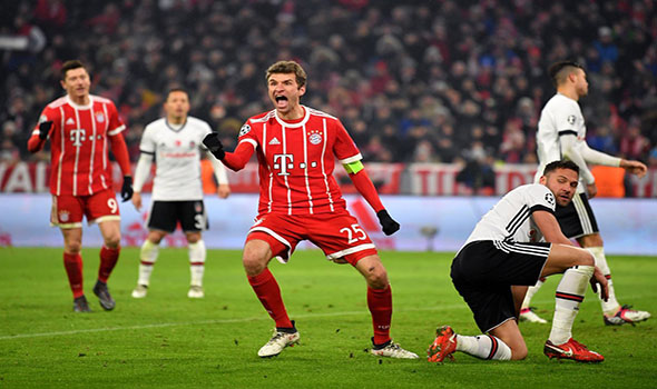 Cuplikan Gol Bayern Munchen 5-0 Besiktas | Bundes Liga