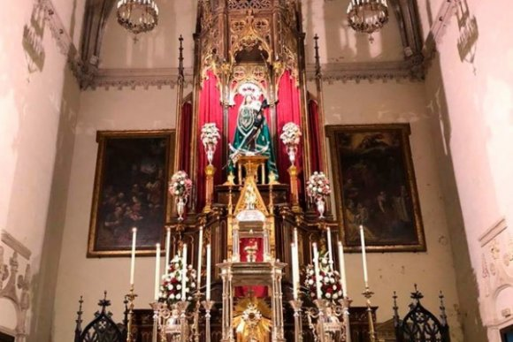 Trasladada la Patrona de Tarifa a la iglesia de San Mateo, entre medidas de seguridad