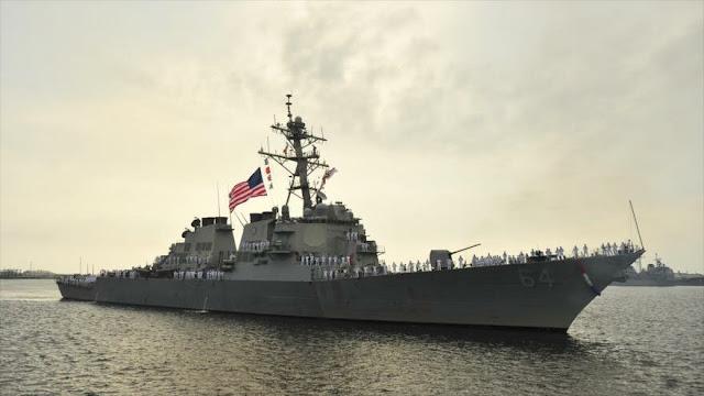 Rusia vigila destructor USS Carney de EEUU en el mar Negro