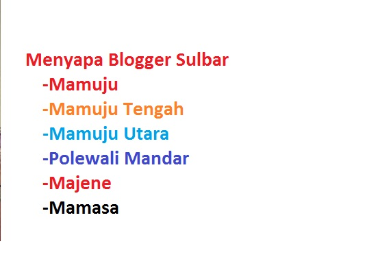 Blogger Sulbar