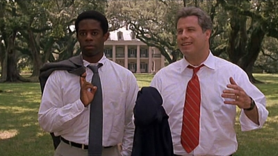 Adrian Lester with John Travolta as a Clintonian southern governor running for the Democratic nomination for President in the 1998 Mike Nichols film PRIMARY COLORS written by Elaine May.