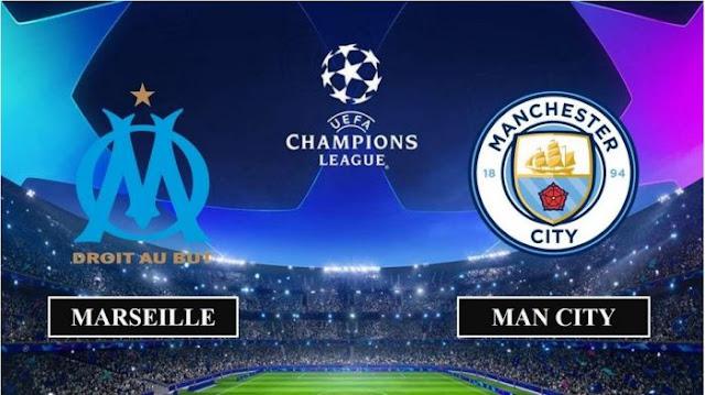 مباراة مانشستر سيتي ومارسيليا دوري أبطال أوروبا بث مباشر