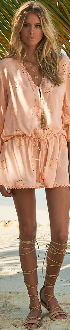 MELISSSA ODABASH LOUISE V-NECK SHORT DRESS PEACH PINK