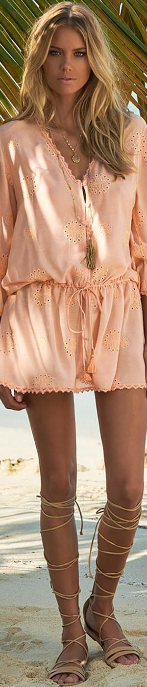 MELISSSA ODABASH LOUISE V-NECK SHORT DRESS PEACH PINK