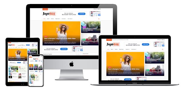Jago News Best Magazine Blogger Premium Template