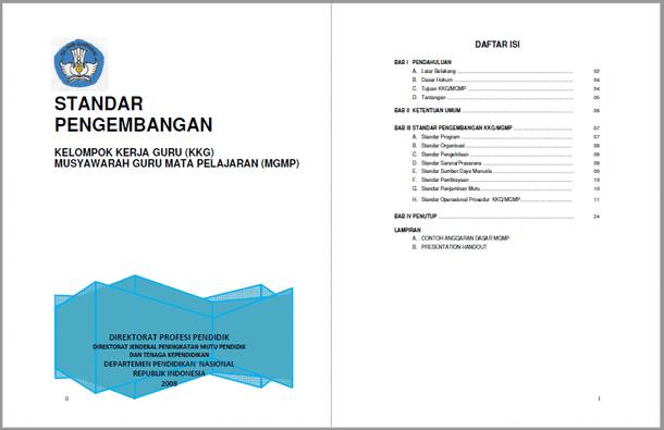 Standar Pengembangan Kkg Mgmp Berkas Edukasi