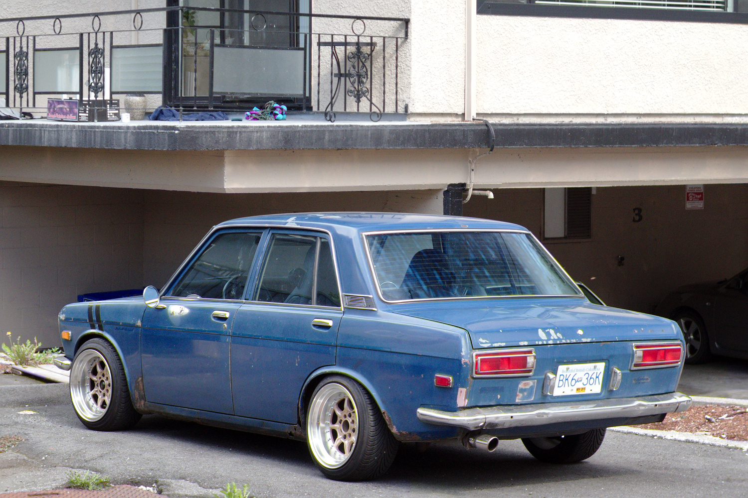 Nissan March Tuning >> Old Parked Cars Vancouver: 1969 Datsun 510 Sedan