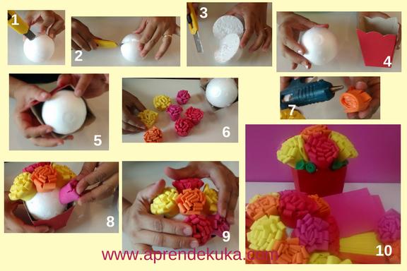 DIY flores em EVA muito fácil de fazer em casa