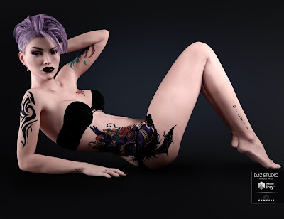 Tattoo for Genesis 3 Female
