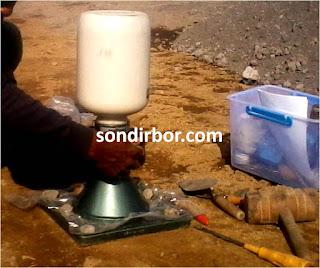 sand cone test kepadatan tanah in situ