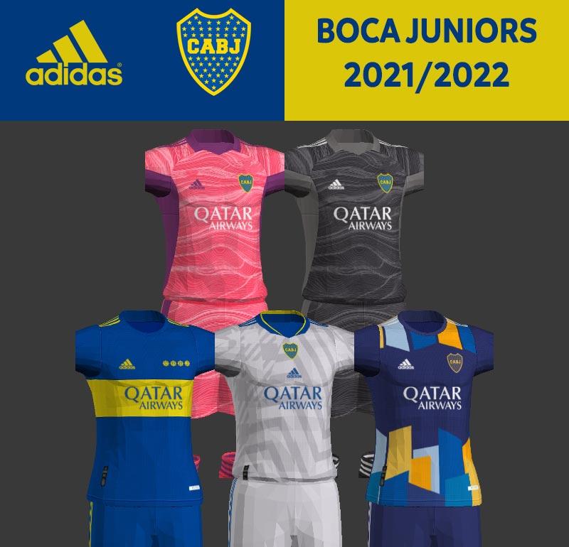NEW Boca Juniors 2021-2022 Kits For PES 2013