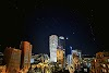 Спутники Starlink в небе над Тбилиси