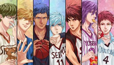 Poster anime bertema basket Kuroko No Basketball