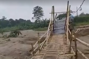 jembatan cimapag tanjung sari,kembali di terjang banjir