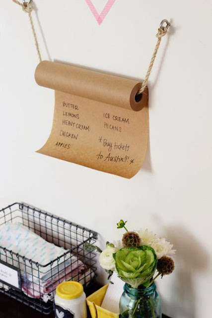 Kraft Paper Grocery List