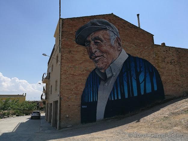 Mural del Tato, Joan Mata, vecino del pueblo