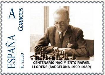 Sello con Rafael Llorens i Llorens