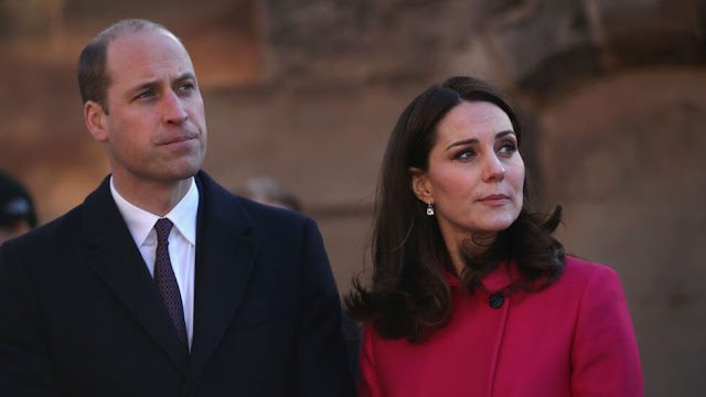 A body was found in a lake in front of William and Kate's home