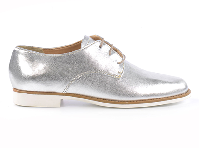 Shopping, sacha shoes, lace up shoes, brogues, silver, black, white sole, summer 2015