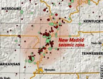Fault Lines In Missouri Map.New Madrid Fault Map