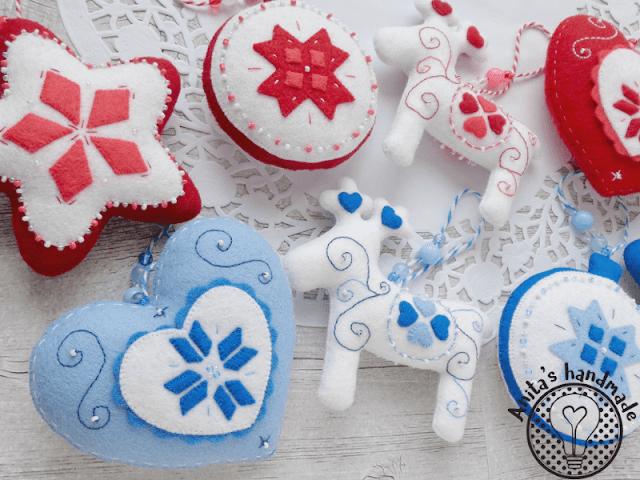 filc, felt, fieltro, feltro, święta, swieta, boze narodzenie, boże narodzenie, christmas, weihnachten, ozdoby bożonarodzeniowe, ozdoby świąteczne, ozdoby na choinkę, ozdoby choinkowe, christmas decorations, felt christmas, natal, filetro natal, feltro natal, wesołych świąt, wesolych swiat, feliz natal, feliz navidad, christmas is coming, handmade, handmade christmas, ręcznie robione ozdoby choinkowe, anitas handmade, anita's handmade, rękodzieło, rękodzieło na święta, świąteczne rękodzieło, swiateczne rekodzielo, rekodzielo na swieta, wzory skandynawskie, styl skandynawski, ozdoby w stylu skandynawskim, scandinavian decor, scandinavian style, scandinavian christmas, gwiazdka, bombka, serce, renifer, reindeer, star, heart, felt heart, felt reindeer, felt star, bombka z filcu, renifer z filcu, gwiazdka z filcu, serduszko z filcu, filcowa bombka, filcowe serce, filcowa gwiazdka, filcowy renifer, hobby, craft, felt craft, scandinavian design