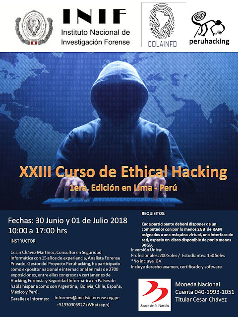 XXIII Curso de Ethical Hacking