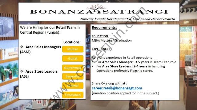 Bonanza Garments Industries Pvt Ltd Jobs July 2021