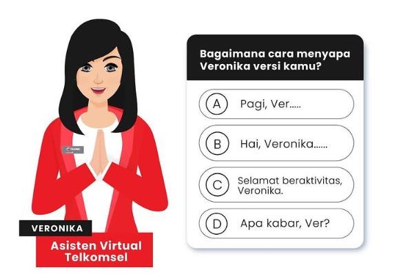 cara menyapa veronika telkomsel