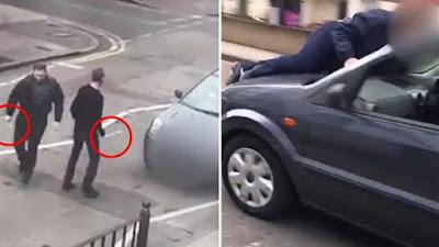 """""""عاجل بالفيديو"""" هجوم جديد على المصلين في لندن بعد ساعات من مذبحة نيوزيلندا وفرار الإرهابيين"""