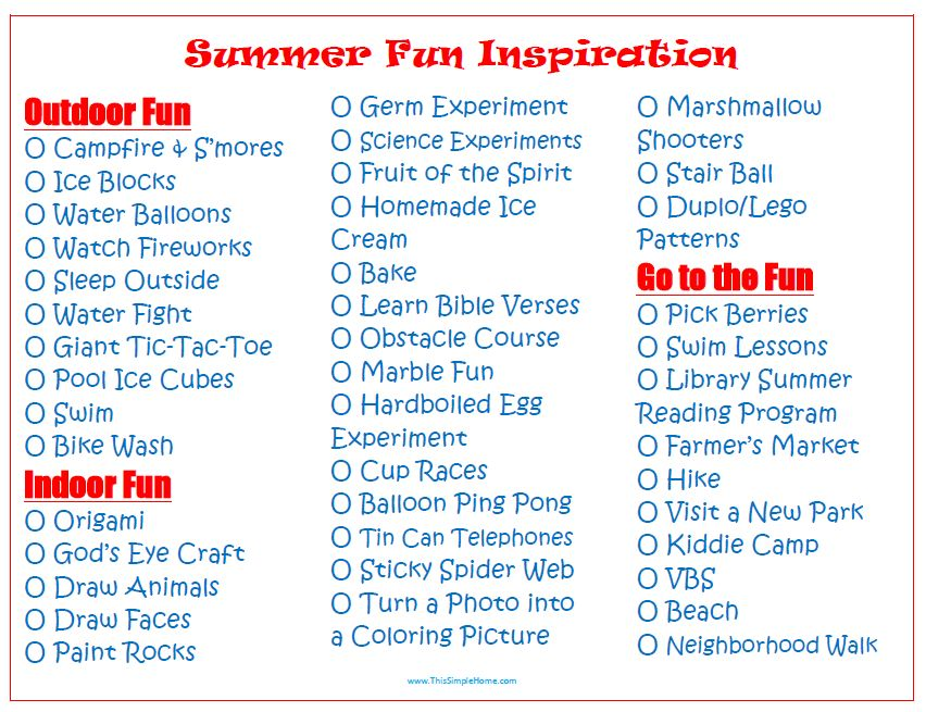 This Simple Home Summer Fun Inspiration Poster