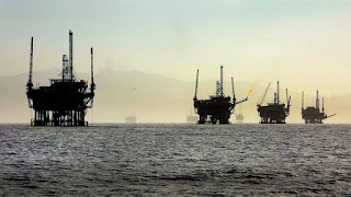 oil rigs, Santa Barbara