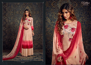 Belliza Designer Naisha Jam Silk Salwar Kameez Collection In Wholesale