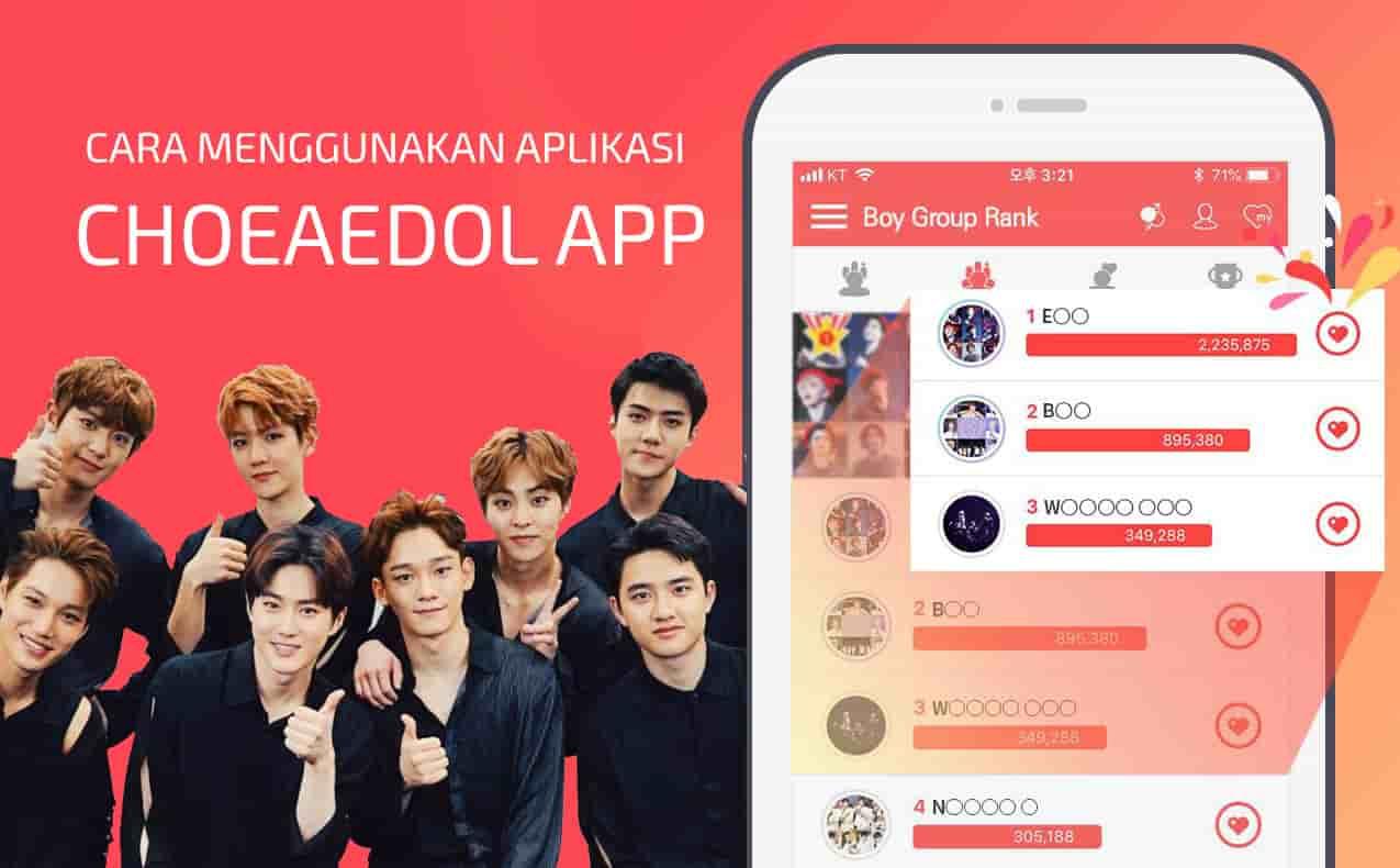 cara menggunakan aplikasi choeaedol app android