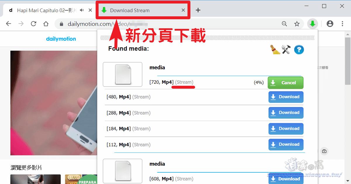 Stream Video Downloader 網路串流影片m3u8、FLV 下載器(Chrome