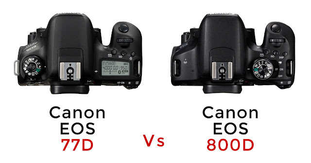 Canon EOS 77D vs Canon EOS 800D - Top Differences