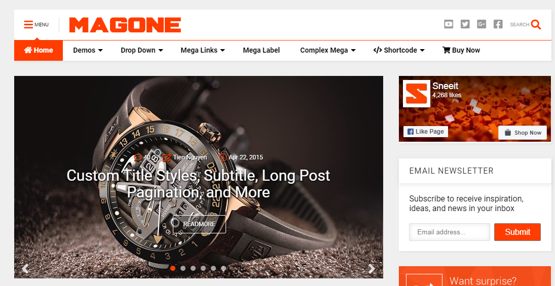 Giao diện blogger MagOne