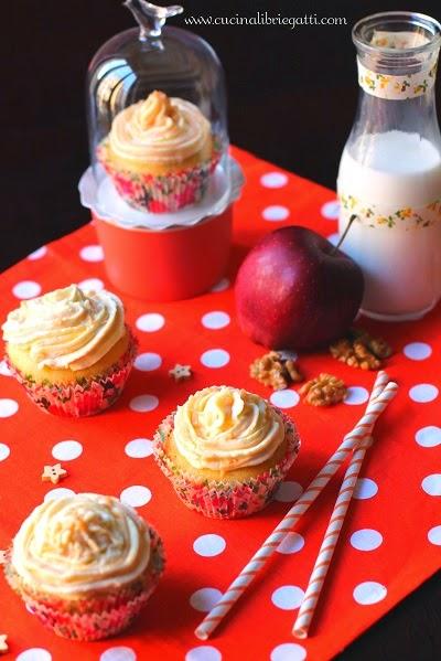 cupcake mele noci cardamomo frosting caramello mou ricetta
