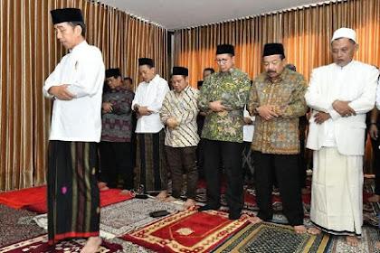 Jokowi Jadi Imam Salat Lagi Saat Kunjungi Ponpes Ini