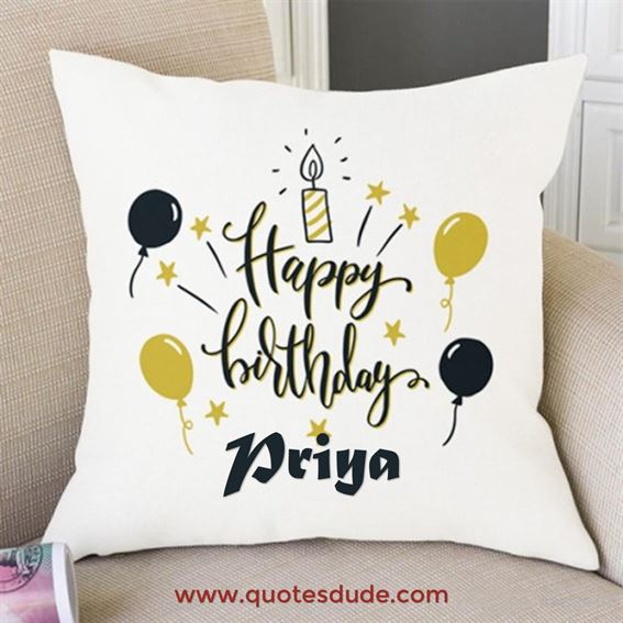 Happy Birthday Priya Message, Quotes & Cake Images